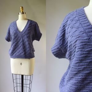 Vintage 80s Deep V Avant Garde Sweater